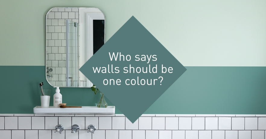 How to paint a two tone wall
