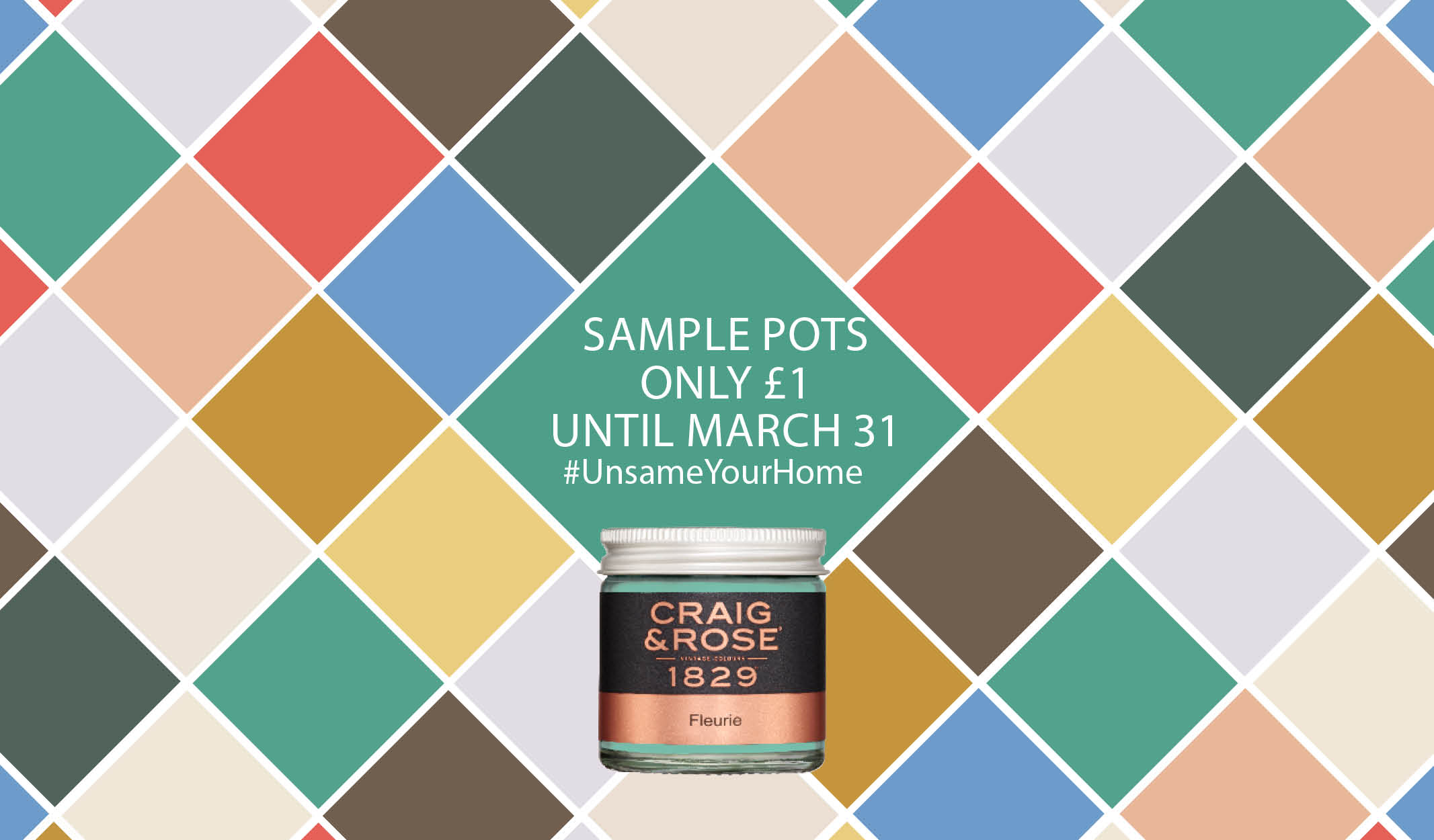 Pick up a sample for £1 with Craig & Rose