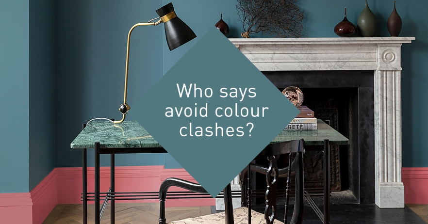 who says avoid colour clashes