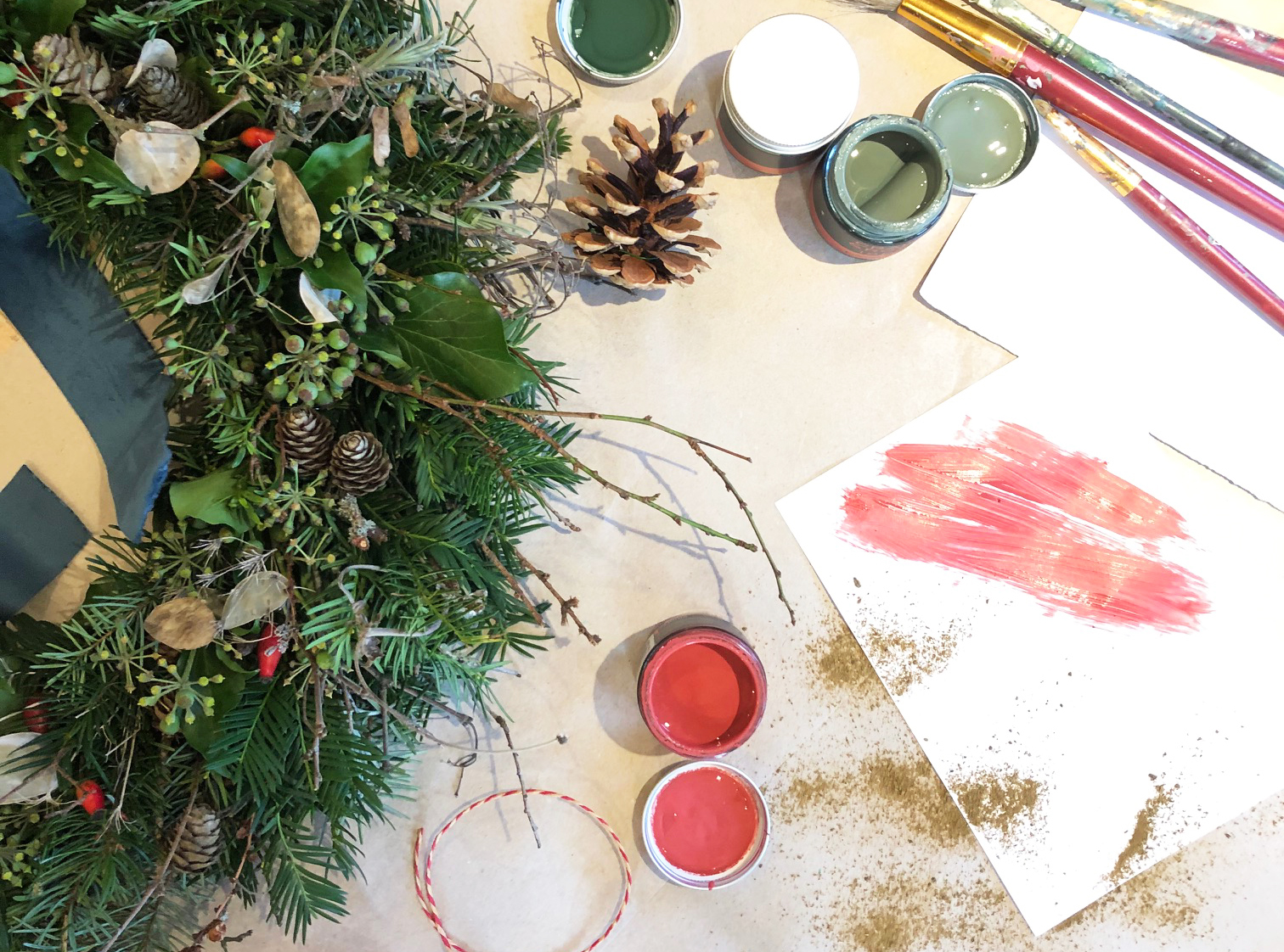 Christmas collaboration with Artist Diana Forbes