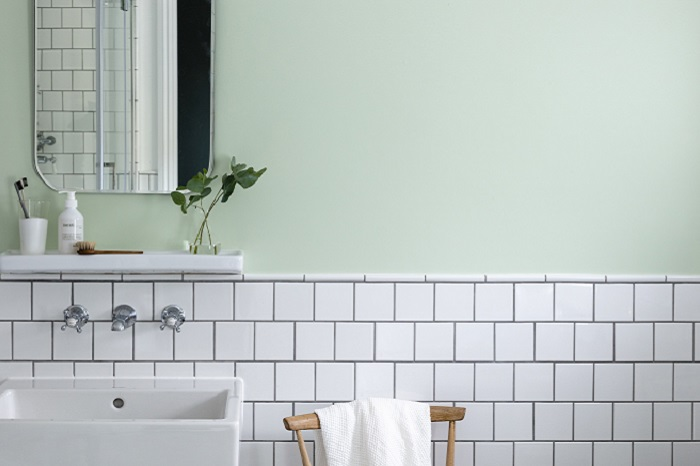 Soft Green Bathroom