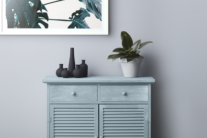 Blue upcycled cabinet