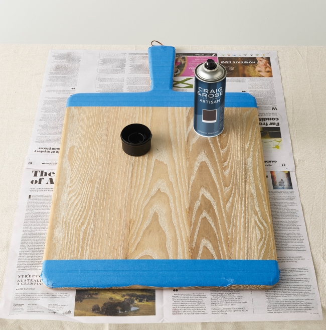 Magnetic Chalkboard taped