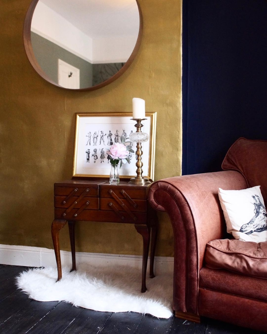Gold Effect feature wall