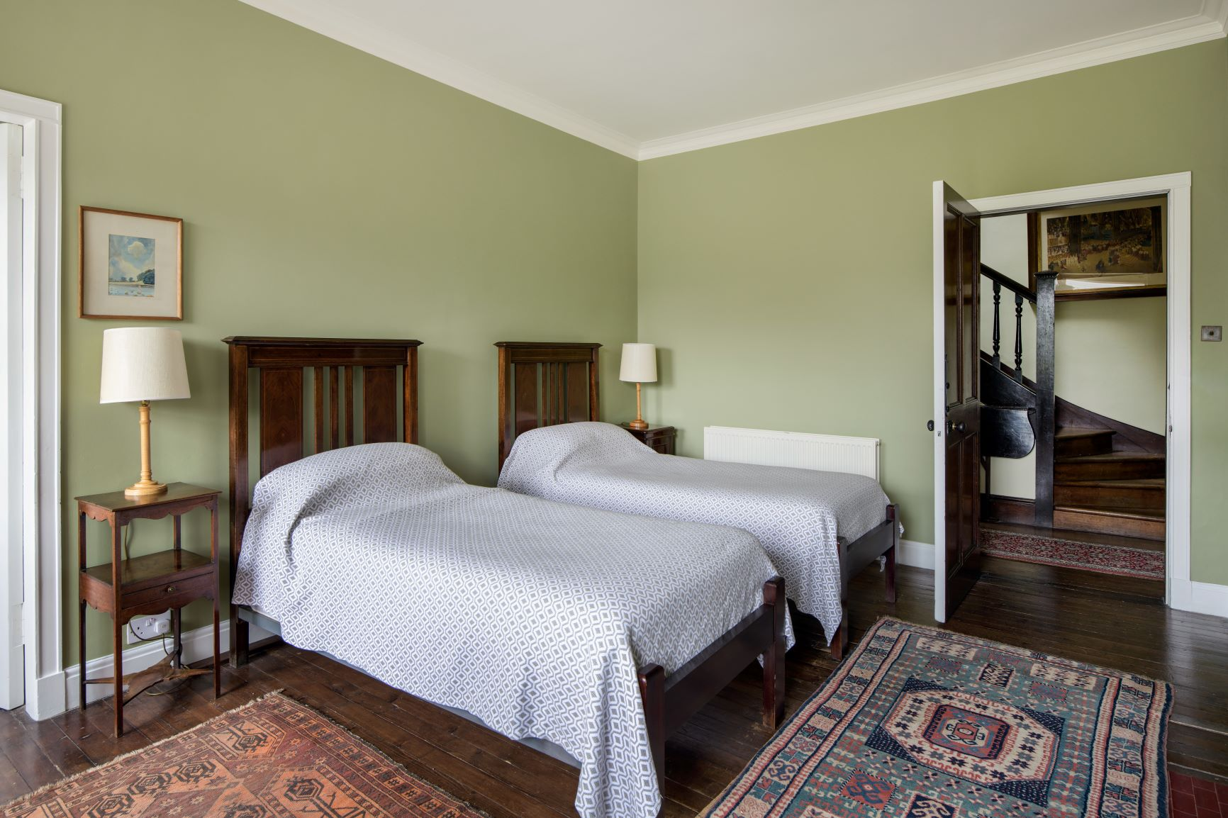 Tapestry Green in one of the twin bedrooms